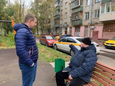 Денис Аксёнов встретился с жителями домов по Перовской улице